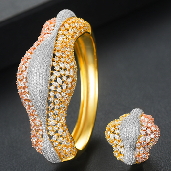 missvikki Luxury finely Disco Stackable Luxury Bangle Ring Sets for Women Wedding Bangle Ring Sets aretes de mujer modernos 2020