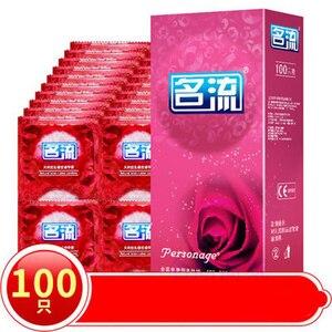 Mingliu 100pcs Ultra Thin Condoms Sexy Latex Dots Pleasure Natural Rubber Condones Male Contraception Penis Sleeve
