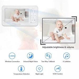 Image 5 - 4.3 אינץ אלחוטי צבע תינוק צג אודיו וידאו תינוק מצלמה ווקי טוקי טמפרטורת צג אבטחת המצלמה IR ראיית לילה