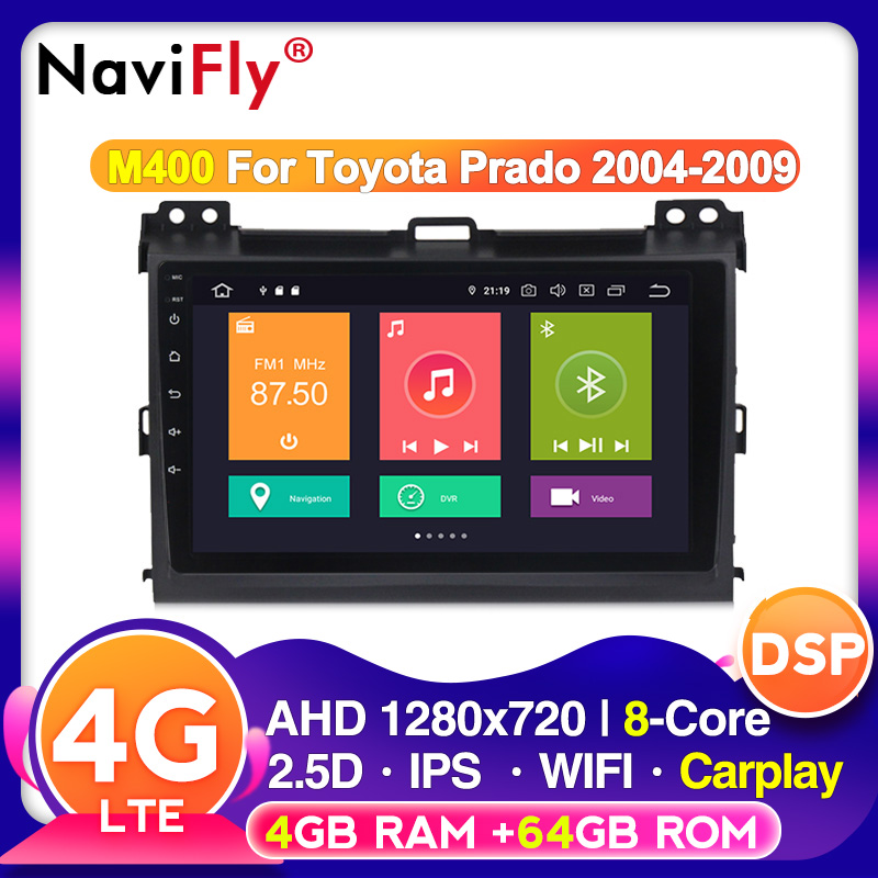 2 din Octa Core Android 10.0 Car multimedia DVD Player for Toyota Prado 120 for <font><b>Lexus</b></font> GX470 autoradio CAR GPS navigation Radio image