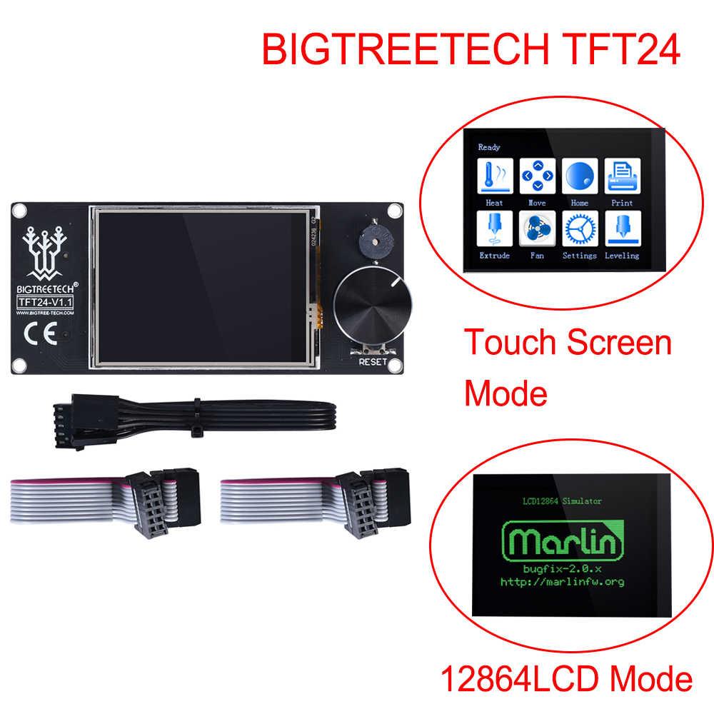 BIGTREETECH SKR V1.3 3D impresora de placa + TFT24 pantalla táctil + TMC2209 TMC2208 UART TMC2130 A4988 para Ender 3/5 Pro del E3 MKS GEN L
