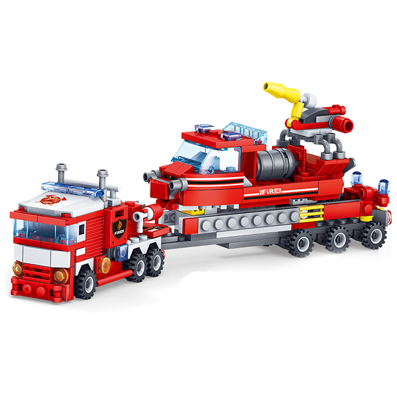 KAZI-Toys-348PCS-City-Construction-Series-Building-Blocks-DIY-Fire-Station-Bricks-Christmas-Gift-For-Kid (2)
