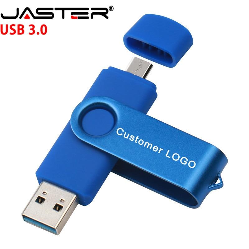 JASTER New USB 3.0 Flash Drive Pen Drive  128GB 64GB 32GB 16GB 8GB 4GB OTG  High Speed Pendrive For Android/PC U Drive
