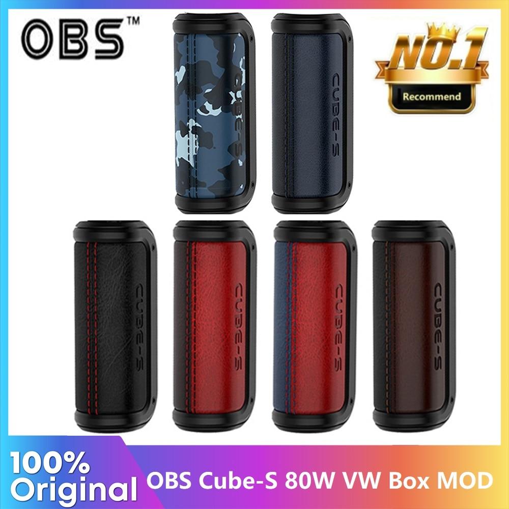 Оригинальный мод OBS Cube S питается от одной батареи 18650 80 Вт Vape Mod электронная сигарета Vaporizer VS Cube X Mod /Gen / Swag 2