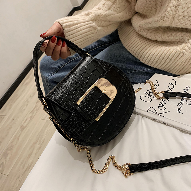 Stone Pattern PU Leather Crossbody Bags for Women 2020 Small Chain Handbag small bag Ladies Designer Evening Bags with handle