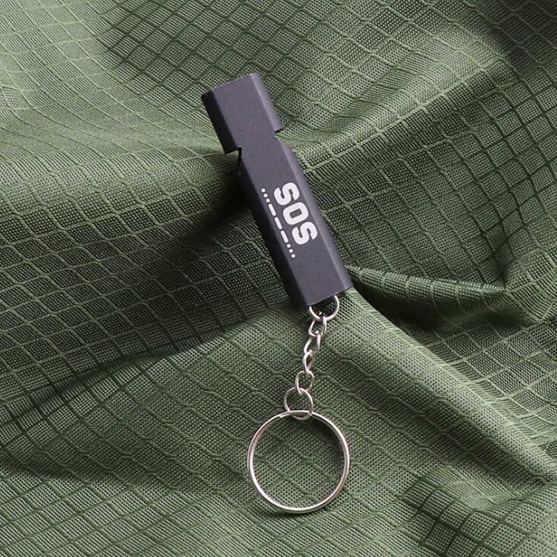 2019 Кемпинг спасательный свисток высокочастотный свисток Многофункциональный портативный EDC инструмент SOS сейсмический аварийный свисток