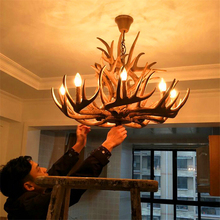 Modern Led Chandeliers Antler Chandelier Lighting American Retro Resin LOFT Youlaike Indoor Home Kitchen Fixtures