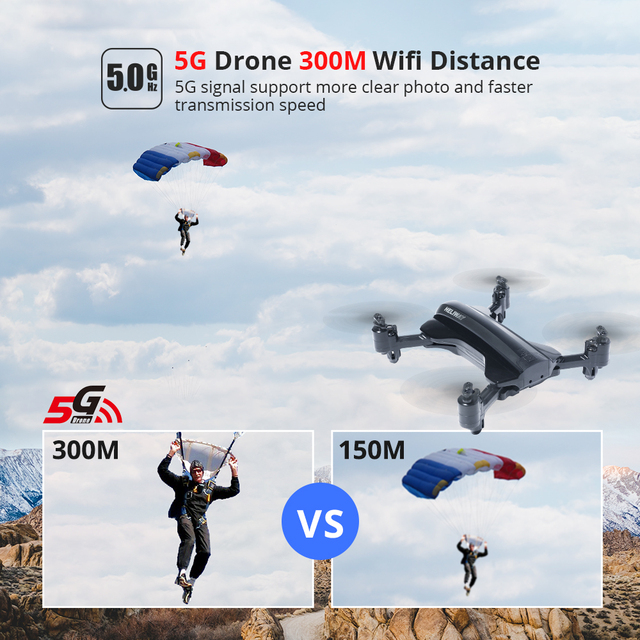 Holy Stone HS165S 5G GPS RC Drone with Camera 1080p HD WIFi FPV 120° Wide Angle Tapfly GPS Follow Me RC Quadcopter Quadrocopter