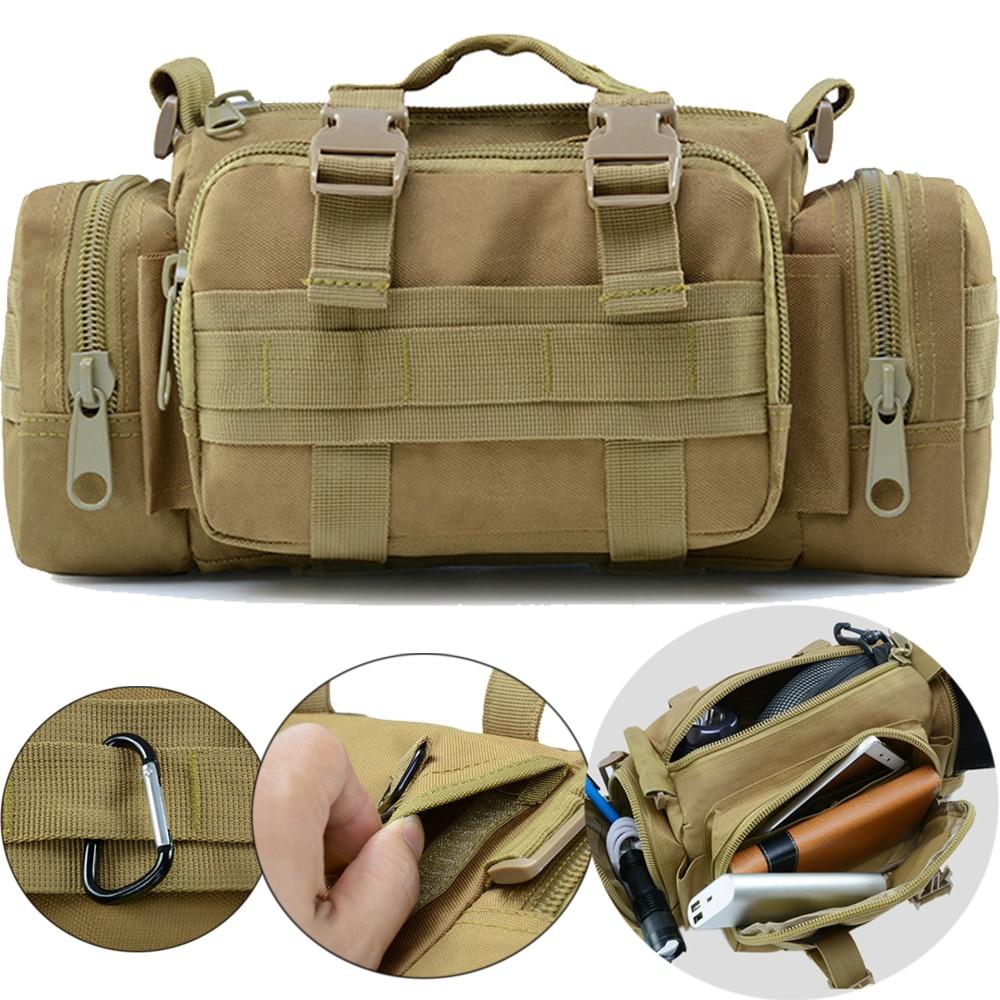 Outdoor Military Tactical Backpack Camping Hand Bag Shoulder Bag Molle Tactical Waist Bag Hiking Travel Sport Bag Pouch Mochila