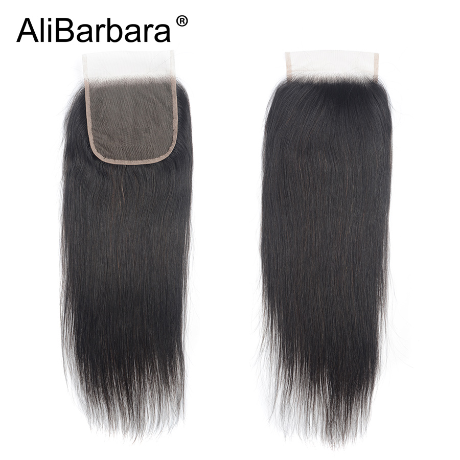 H1d30ea525b03498aa5c06e3c6a873737z Alibarbara Brazilian Straight Hair With Closure 4*4 5*5 6*6 Free Middle Part Closure with Bundle Remy Human Hair Bundles With Cl