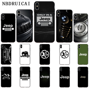 NBDRUICAI Jeep cool car logo TPU Soft Silicone Phone Case Cover for iPhone 11 pro XS MAX 8 7 6 6S Plus X 5 5S SE XR case(China)