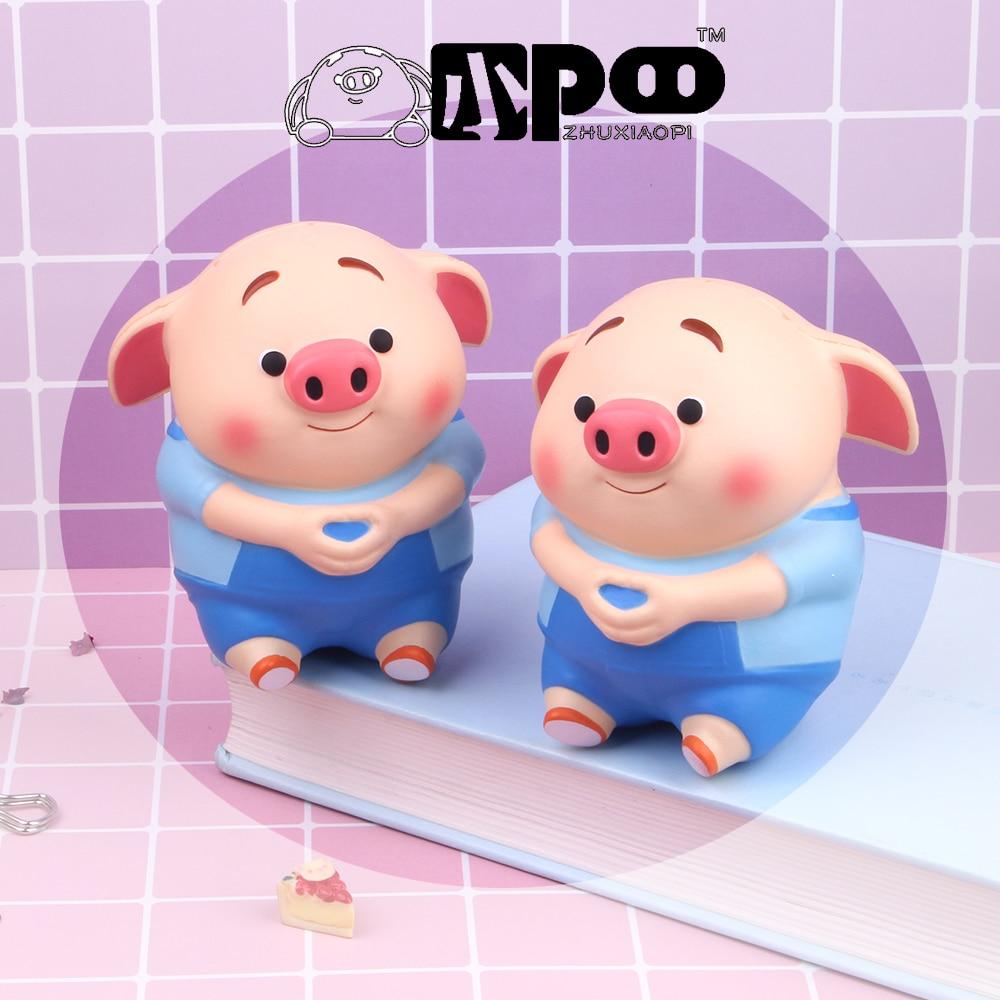 Genuine Authorization Cartoon Cute Squishy Pig Fart Toys