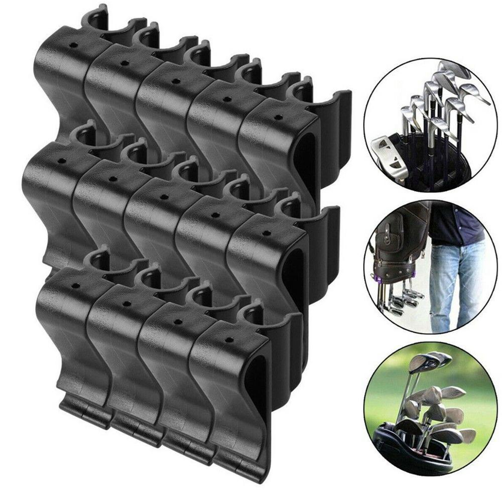 14pcs Golf Putter Clip On Clamp Holder Stand Organizer Club Aid Tool Accessory Golf Bag Clip For Golf Training