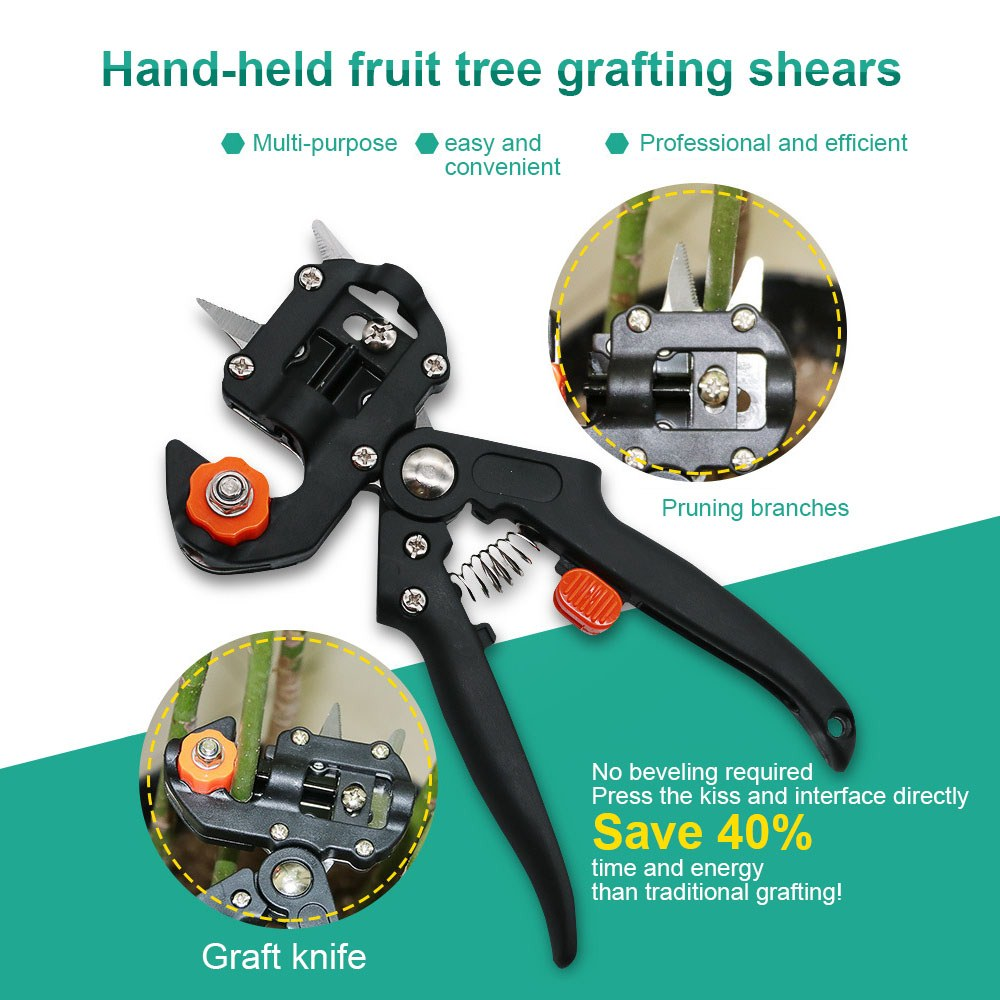 Grafting Shear Grafting Knife Pruning Shears Seedling Grafting Machine Fruit Tree Grafting Machine Gardening Tool Set