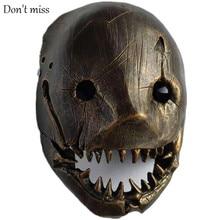 Butcher Halloween Mask Murder Robot King Halloween Gift Film and Television Works Bronze Halloween Headdress Ball Party