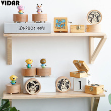 VIDAR Nordic Windup Small Music Box Wood Flamingo String