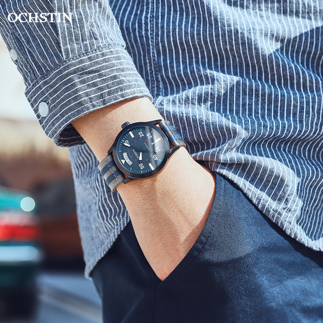 Modern Men's Watches 2020 Pilot Automatic Mechanical Wristwatch Military Luxury OCHSTIN Date Week Double Display Gifts For Male 5