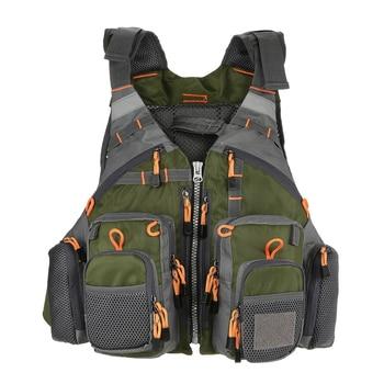 Outdoor Sport Fishing Life Vest Men Breathable Swimming Jacket Safety Waistcoat Survival Utility Colete Salva-Vidas