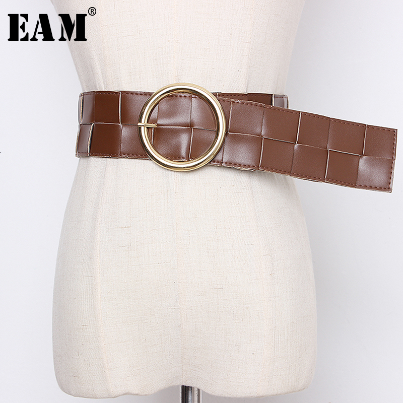 [EAM]  Pu Leather  Multicolor Camel Long Wide Belt Personality Women New Fashion Tide All-match Spring Autumn 2020 19A-a357