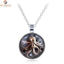 Novel Cthulhu Mythos Monster Necklace Inlay Craft Pendant Gift Jewelry Souvenir