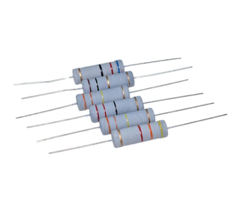 10 шт. 5 Вт 5% карбоновый пленочный резистор 1R ~ 1M 2.2R 10R 22R 47R 51R 100R 150R 470R 1K 4,7 K 10K 47K 1 2,2 10 22 47 51 100 150 470 Ом