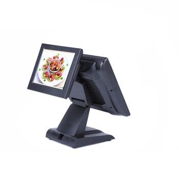 Dual screen 15+12 inch resistive screen POS system for restaurants POS machine Cash Register cashier POS terminal high quality