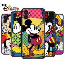 Color Disney Mickey for Apple iPhone 12 Pro Max Mini 11 Pro XS Max X XR 6S 6 7 8 Plus 5S SE2020 Soft Black Phone Case