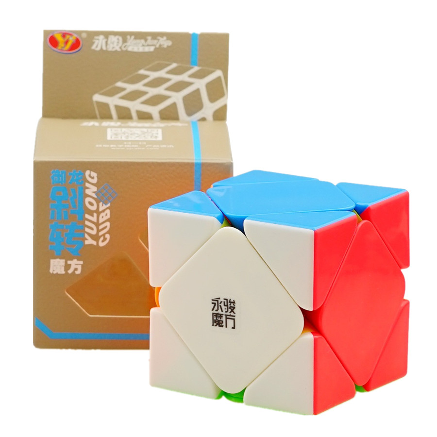 YJ GuanLong Skew Cube 3x3 Magic Cube 3 Layers Speed Magic Speed Cube Professional Puzzle Toys For Children Gift