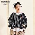 imakokoni black short cotton coat original design cute student thickened warm jacket female autumn and winter 182437