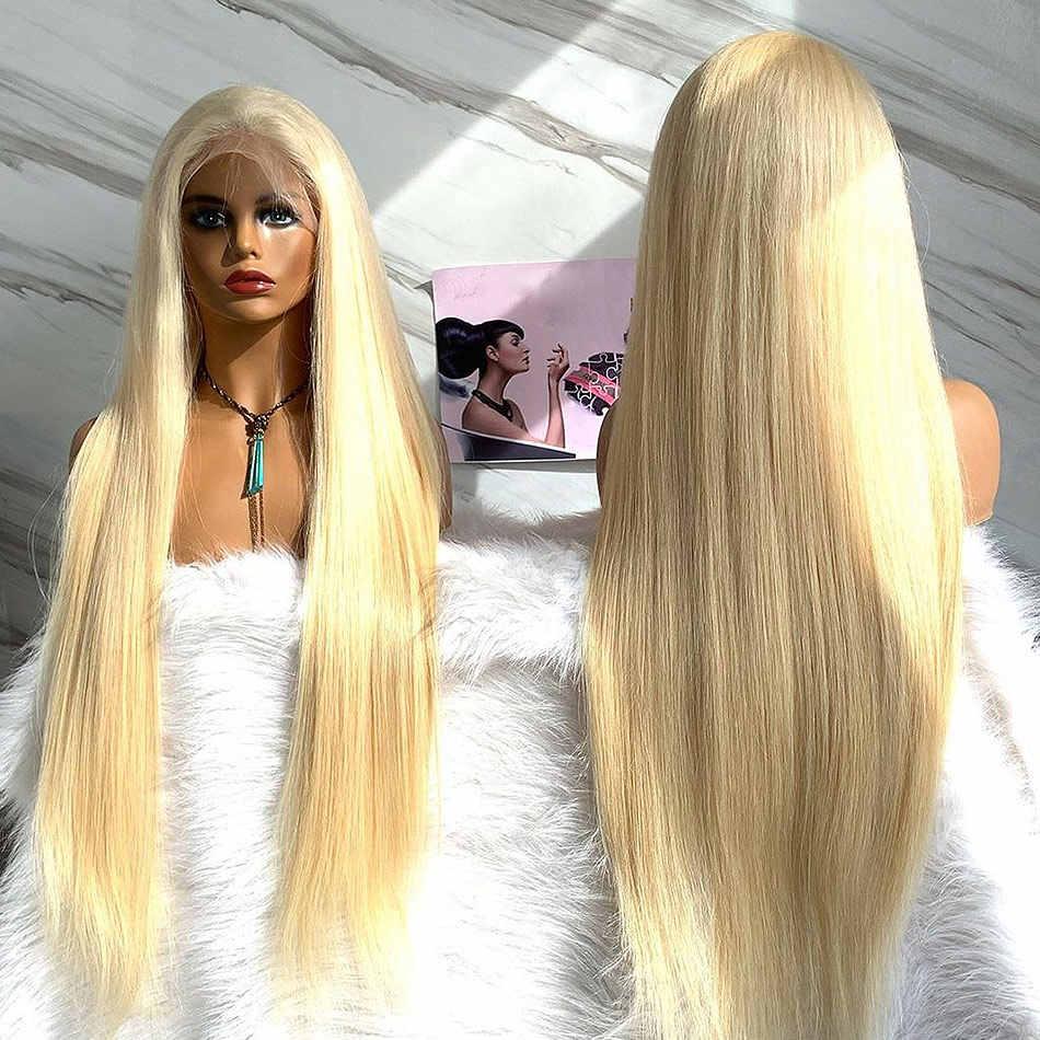 Luvin hair wigs Straight human hair wig 613 Blonde Brazilian Human Hair Wigs 613 Lace human hair Wig For Black Woman 13X4wig