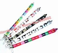Lot 50pcs mixed cartoon Lanyard ID Badge Holders Mobile Neck Keychains For Party Gifts WQ 189