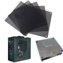5 sztuk komputer stancjonarny wentylator obudowy Cooler filtr pyłowy pyłoszczelna siatka 140mm Cuttable PVC czarny tanie tanio CN (pochodzenie) Pył okładki J6BD4NB601024
