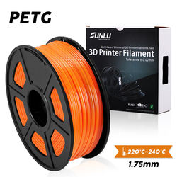 SUNLU 1.75mm PETG 3D Printer Filament 1.75mm 1KG/2.2LB Spool fast ship new Black PETG Printer Material 3D printing material
