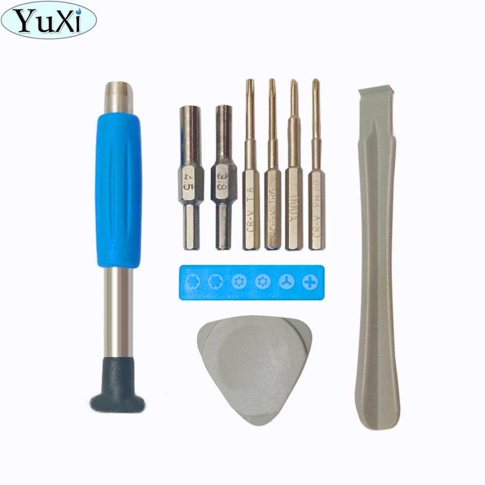 YuXi 3.8mm 4.5mm T6 T8 Screwdriver Set Repair Tools Kit for Nintendo Switch for GBA SP GB New 3DS for Wii U NES SNES DS Lite PS4