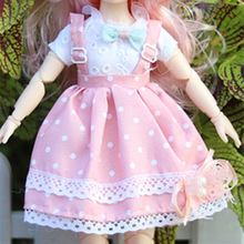 Doll-Clothes Dress Bjd-Accessories Blythe Skirt Toys Girls Stripe for 10-12inch 1/6