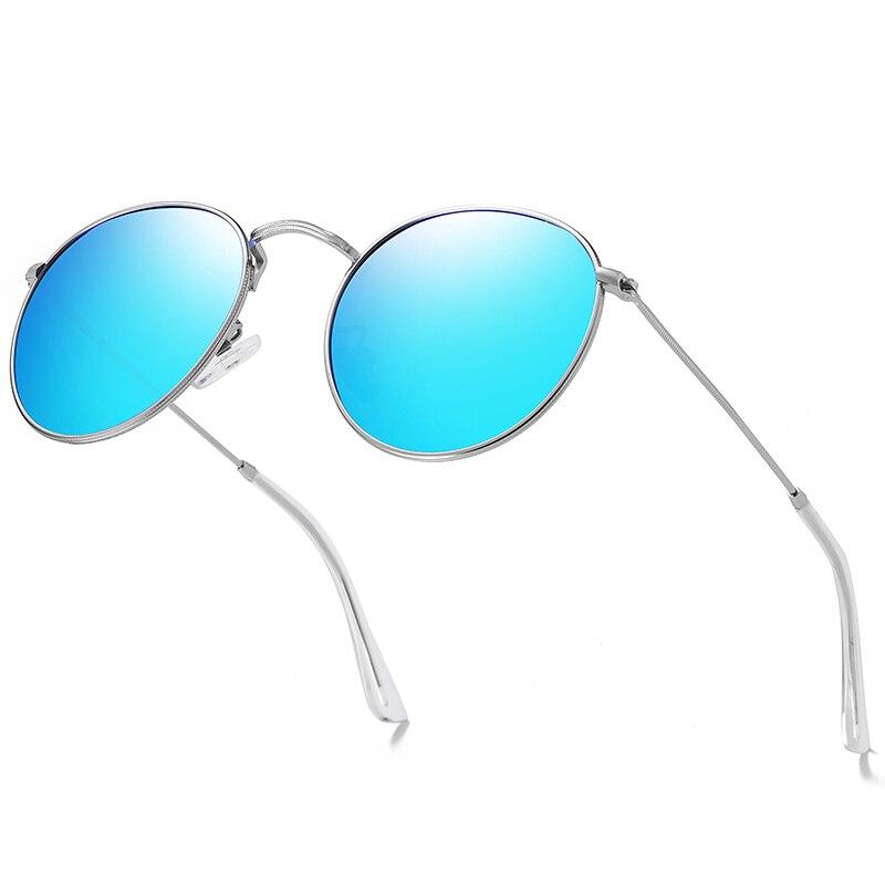 Круглые Солнцезащитные очки BARCUR, мужские и женские разноцветные поляризованные солнцезащитные очки с отражающим покрытием и коробкой в по...