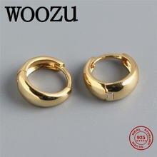Woozu реальные 925 стерлингового серебра минималистский широкий
