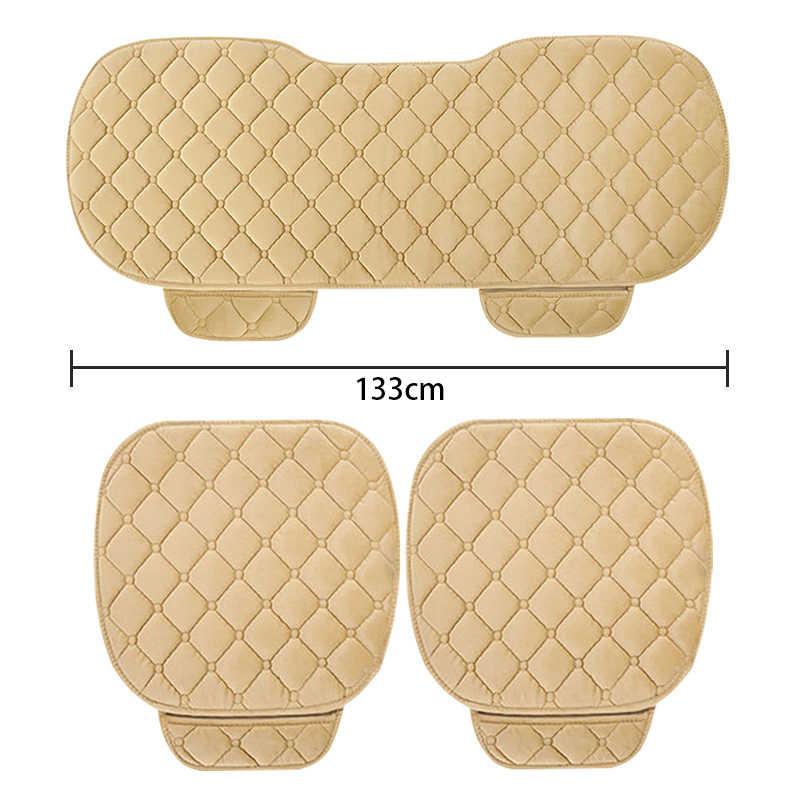 Inverno quente tampas de assento de carro universal interior assentos de automóvel capa protetor de assento-capa de almofada de automóveis capa de assento tapetes