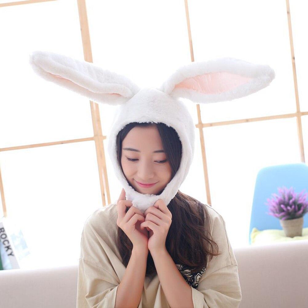 Winter Cute Cartoon Rabbit Earflap Hat Girls Flannel Bunny Ear Cap Women Winter Warm Plush Hats Gift Hats For Women Fashion