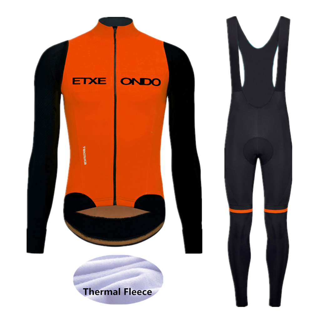 2020 Winter Etxeond Cycling Jersey Set MTB Bicycle Clothing Ropa Ciclismo Thermal Fleece Bike Clothes Mens Long Cycling Wear 292
