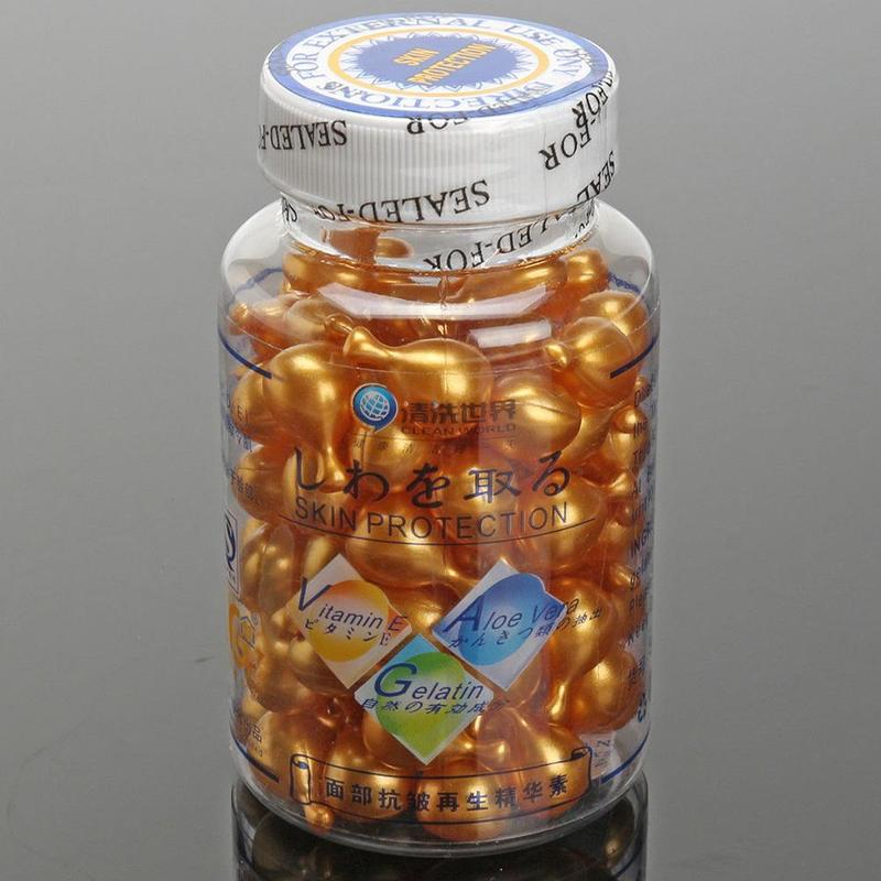 Dropshipping 90/270/450PCS Vitamin E Capsules Serum Spot Acne Removing Whitening Anti Wrinkle Cream Facial Freckle Capsule Skin