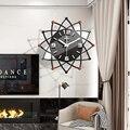 Акриловые светящиеся настенные часы  Современный Креативный дизайн для гостиной  спальни  Европы  декоративные кварцевые часы для дома