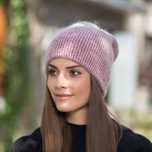 Новая высококачественная простая шапка с кроличьим мехом для