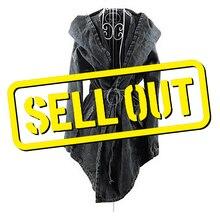 LANMREM 2020 New Autumn And Winter Hooded Washed Denim Pocket Waist Belt Jacket