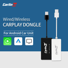 Carlinkit Wired/Apple Carplay Dongle Sem Fio Para O Sistema Android Tela Smart Link Suporta o Espelhamento Mapa Da Música Com Android Auto(China)