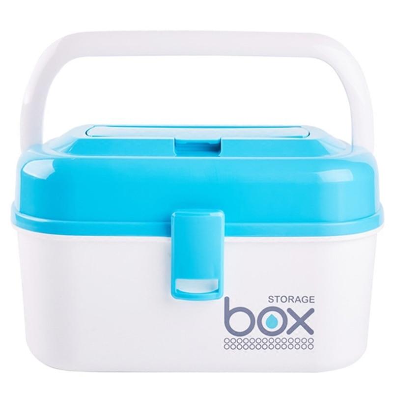 Home Children's Small  First Aid Kit Household Multi-Layer Hand Medicine Cabinet Plastic Medicine Storage Box