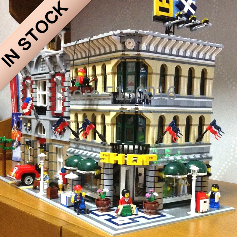 In Stock 10211 Creator Grand Emporium 15005 2232Pcs Street View Model Building Blocks Bricks 84005 15034 15037 15042 15006 Toys