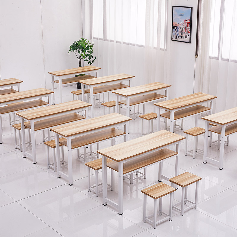 Remedial Class Student Desk Tutoring Institution Desk Chair Calligraphy School Classroom Art Class Desk and Chair|  - title=