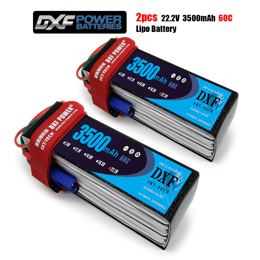 DXF <font><b>3500mAh</b></font> 22.2V 60C-120C <font><b>Lipo</b></font> battery <font><b>4S</b></font> XT60/DEANS/XT90/EC5 For AKKU Drone FPV Truck four axi Helicopter RC Car Airplane image
