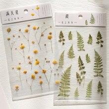 Натуральные листья, цветы, серия Bullet Journal, декоративные полупрозрачные наклейки для скрапбукинга, этикетка, дневник, канцелярский альбом